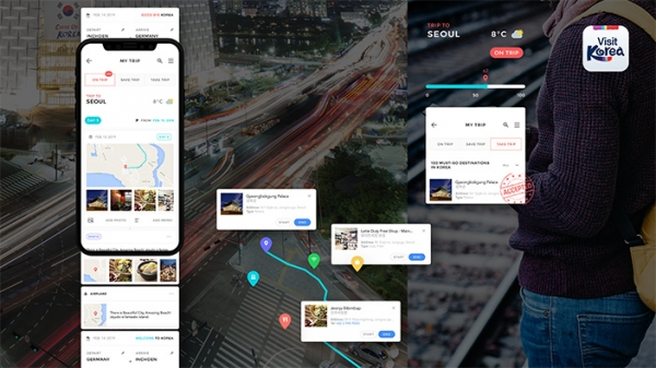 Track your itinerary in real-time with ON TRIP & TAKE TRIP