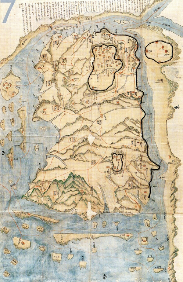 【 Map of late 18th century Ganghwado Island, 76.X119 cm (owned by National Library of Korea) 】
